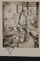 CLARENCE HOTVEDT (1900-1991) PENCIL SIGNED DRYPOINT ETCHING