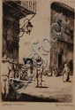JAMES SWANN (1905-1985) PENCIL SIGNED ETCHING 'STREET IN TAXCO'