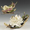 BOEHM PORCELAIN FIGURE OF SWAN LAKE CAMELLIA