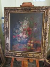 D. VAN FREEMAN OIL ON CANVAS PAINTING W PERIOD FRAME