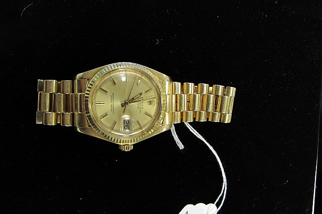Rolex 18k Datejust w/ 18k Gold President Band