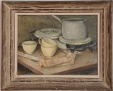 20th Century School: Still Life with Teacups