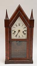 Elisha Manross Mahogany Veneered Small Steeple Clock