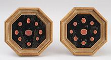 GROUP OF FRAMED TERRACOTTA-GROUND COMPOSITION INTAGLIO MEDALLIONS, AFTER THE ANTIQUE