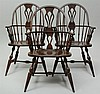 Three George III Style Windsor Armchairs