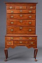 QUEEN ANNE CARVED CHERRY HIGHBOY, NEW YORK