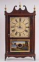 CHAUNCY BOARDMAN: FEDERAL BRASS-MOUNTED MAHOGANY PILLAR AND SCROLL SHELF CLOCK