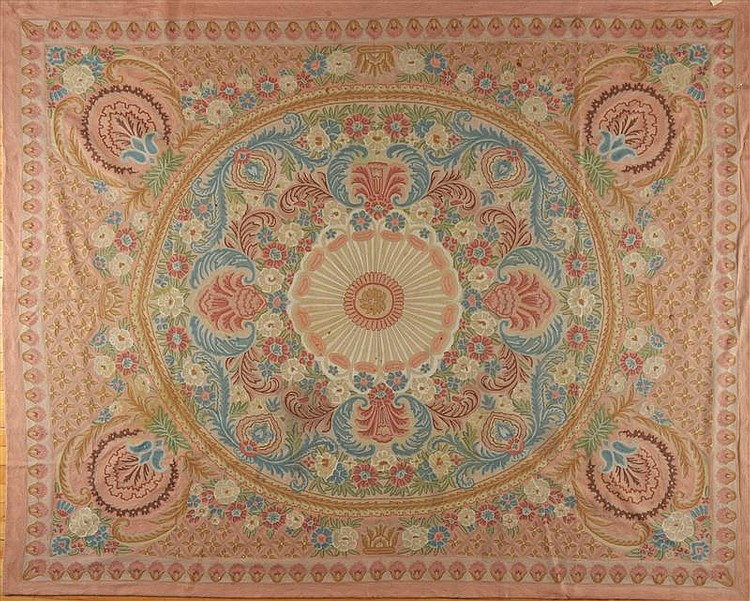 Chinese Aubusson Style Needlework Carpet