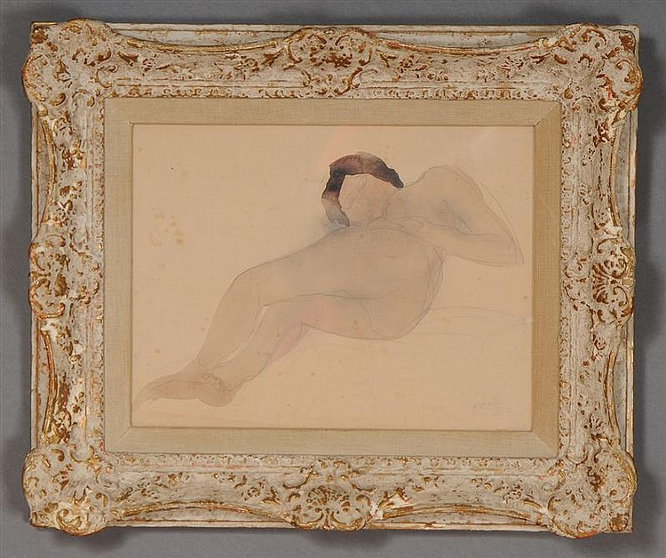 FRENCH SCHOOL: RECLINING NUDE