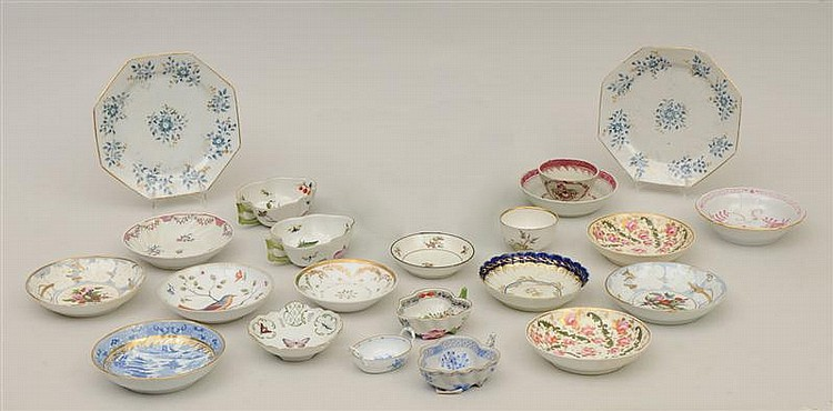 Miscellaneous Group of English and Continental Porcelain Table Articles