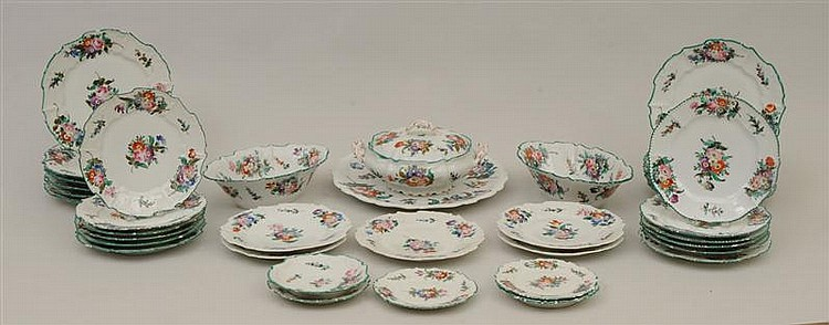 Continental Porcelain Part Dinner Service