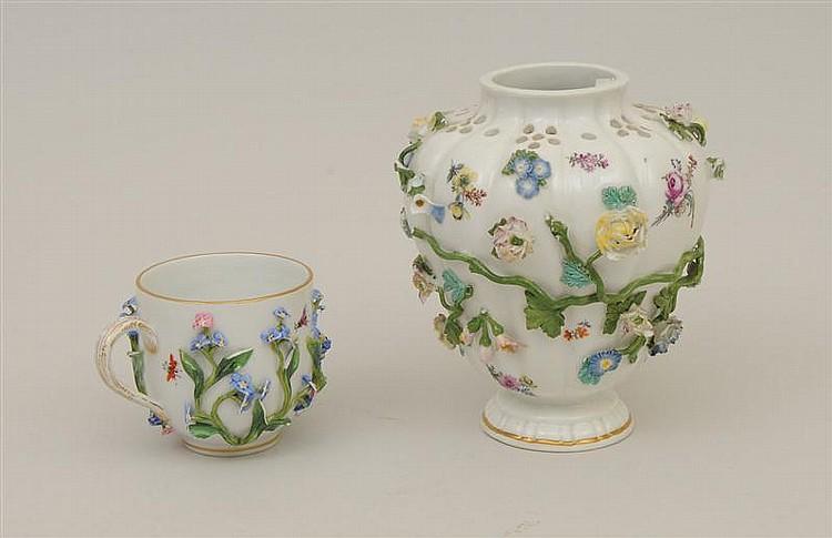 Meissen Porcelain Flower Encrusted Brule Parfume