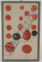 Collection of Wax Seals of Belgian Villages and Families, Mounted on Three Board Mats