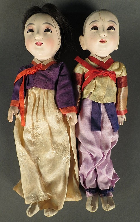 Pair of Antique Gofund Dolls