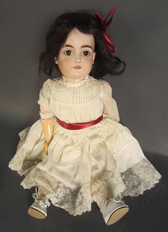Attrib to J.D. Kestner German Bisque Head doll