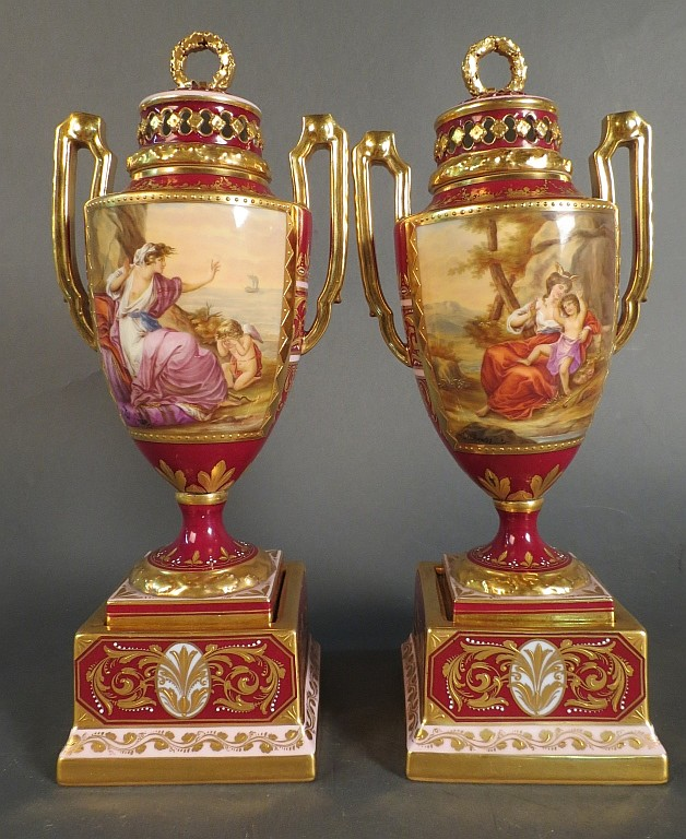 Royal Vienna Porcelain Urns