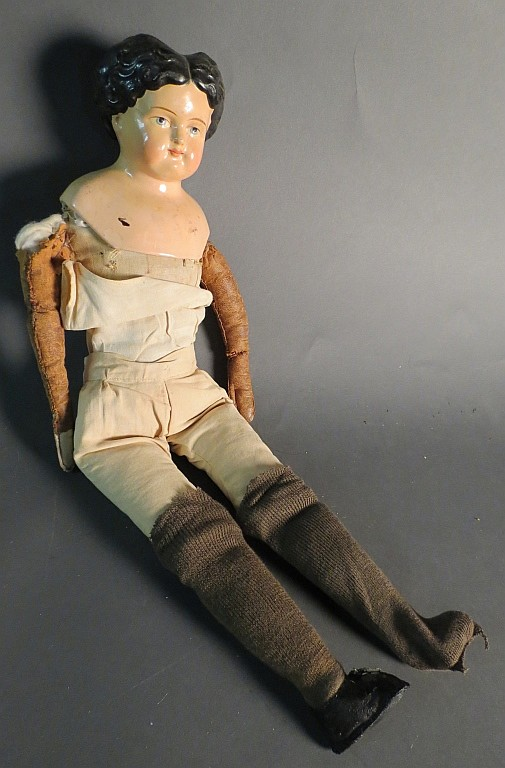 Greiner Papier-mache Shoulder Head Doll