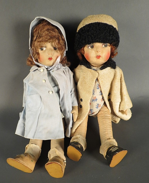 Pair of Vintage Eugene Dolls