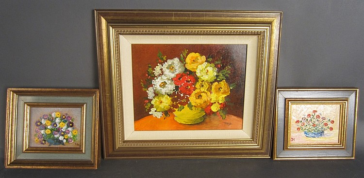 Collection of 3 Floral Still Lifes