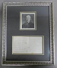Framed Letter by Composer S. Heller