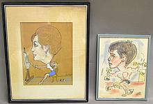 Two Caricature Illustrations