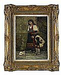 CARL GUSTAF HELLQVIST 1851-1890 Gatumotiv från