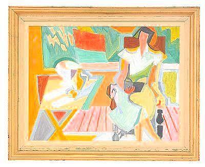 ANDRE LHOTE Frankrike 1886-1962 Losande kvinna