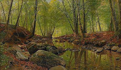 PEDER MÖNSTED Danmark 1859-1941 Sommarlandskap