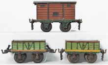 Three Marklin gauge 1 freight cars