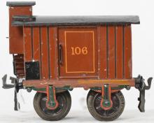 Marklin gauge 1 106 box car with brakemanÍs house