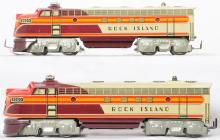Unique Art tin lithographed Rock Island AA diesels