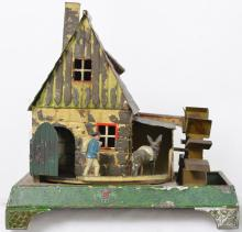 Doll Mill with man chasing donkey steam driven toy