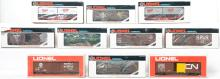 10 Lionel freight cars 16115, 9704, 19238