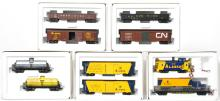 5 Marklin American freight car two packs 4857, 4858, etc