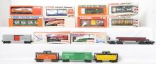15 Lionel cars 19701, 9714, 9278, 9324, etc