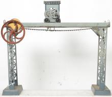 Doll steam powered crane bridge