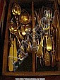 Collection of plated cutlery including part sets.