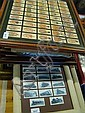 Collection of framed cigarette cards