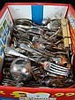 Large quantity of silver plate cutlery (15kg)