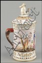 CAPODIMONTE PORCELAIN COVERED TANKARD.