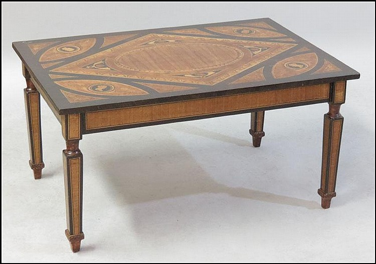 ITALIAN MIXED INLAY TABLE.