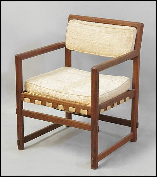 EDWARD WORMLEY FOR DUNBAR, OPEN ARMCHAIR.
