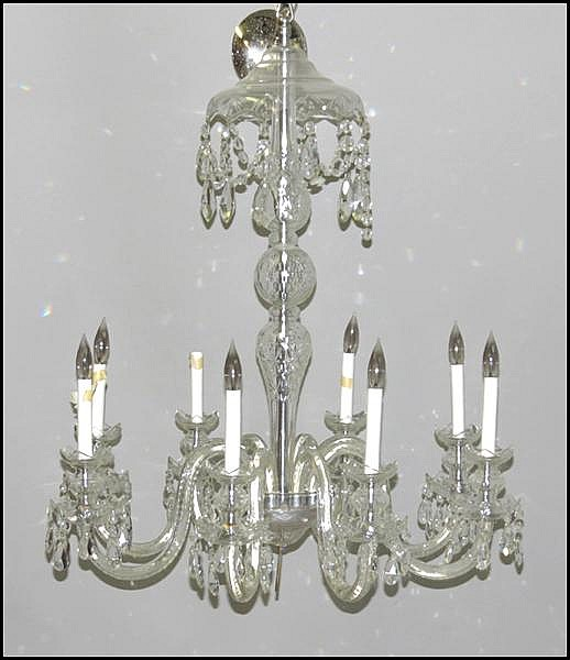 CRYSTAL EIGHT-LIGHT CHANDELIER.