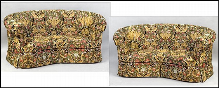 PAIR OF UPHOLSTERED SOFAS.