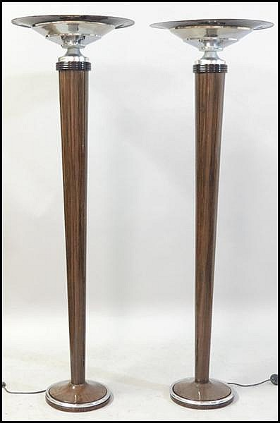 PAIR OF FRENCH MACASSAR TORCHIERES.