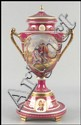 ROYAL VIENNA PORCELAIN URN ON STAND.
