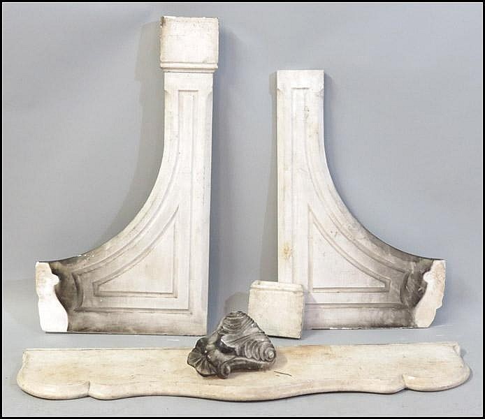 MARBLE FIREPLACE MANTLE.