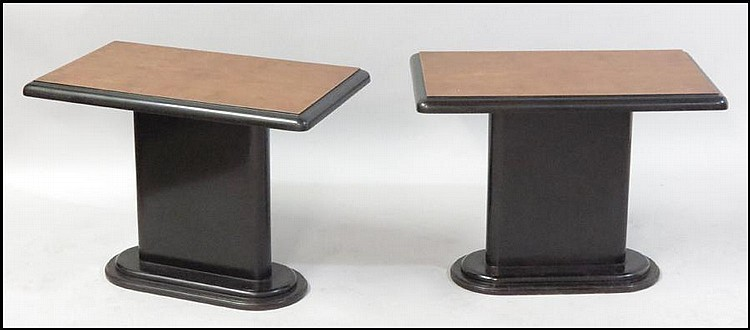 PAIR OF ART DECO STYLE TABLES.