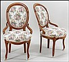 PAIR OF VICTORIAN MAHOGANY BALLOON BACK SIDE CHAIRS.