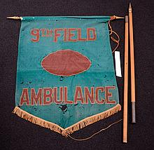 Banner with Pole 9th Field Ambulance